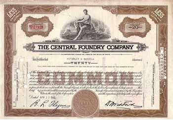 The Central Foundry Company Stock - Brown