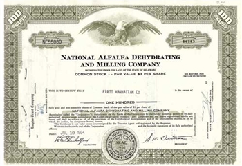 National Alfalfa Dehydrating & Milling Co Stock