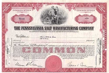 The Pennsylvania Salt Manufacturing Company Stock