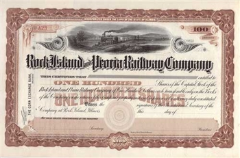 Rock Island and Pacific Railroad Company Stock Certificate