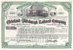 Cleveland and Pittsburgh Railroad Company - Green
