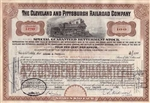 Cleveland and Pittsburgh Railroad Company - Maroon