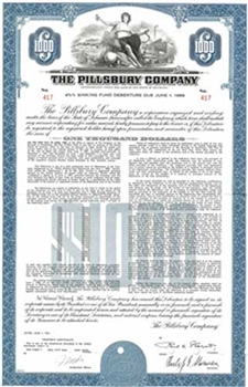 The Pillsbury Company $1000 Bond