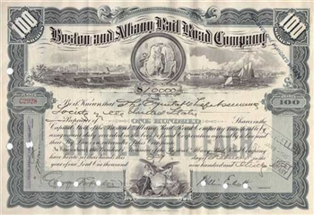 Boston and Albany Railroad Company $10,000 Bond