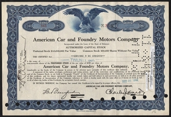 American Car and Foundry Motors Company