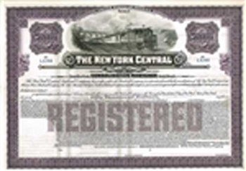 The New York Central Railroad Co. $50,000 Gold Bond