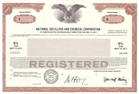 National Distillers and Chemical Corp Specimen Bond