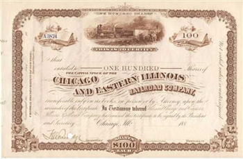 1880s Chicago and Eastern Illinois Railroad Co.