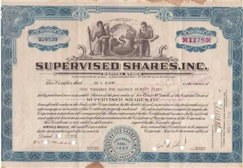 1935 Supervised Shares, Inc. Stock Certificate