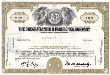 The Great Atlantic & Pacific Tea Company Stock Certificate