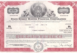 State Street Boston Financial Corp. Stock Certificate