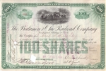 The Baltimore and Ohio (B&O) Railroad Company Stock Certificate 1894