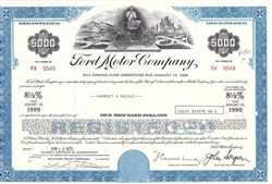 Ford Motor Company Bond Certificate with Henry Ford
