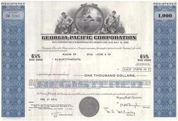 Georgia Pacific Corporation Bond Certificate