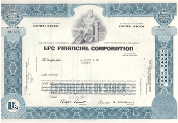 LFC Financial Corp. Stock Certificate