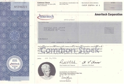 Ameritech Corporation Stock Certificate