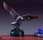 "15"" Soaring Eagle Statue Bronze Finish Figurine"