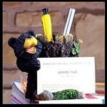 "4""H Bear Pen Holder and Business Card Holder"
