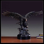 "12"" Soaring Eagle Statue with Bronze Finish - Sculpture"