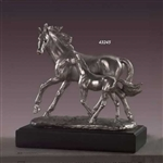 "9"" Mare with Foal Statue - Figurine"