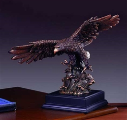 "12"" Bronze Finish Wing Spread Eagle Statue  - Sculpture"