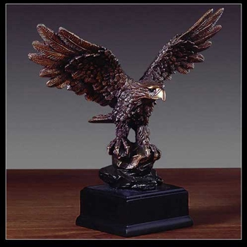 "7"" Perched American Eagle Statue - Figurine"