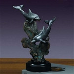 "10.5"" Playing Dolphin Statue - Sculpture"