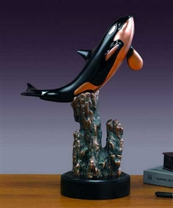 "18"" Killer Whale Sculpture - Orca Statue"