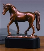 "7"" Tennessee Walking Horse Statue - Bronzed Sculpture"