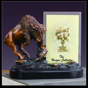 Bronzed Buffalo Picture Frame