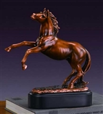 "10"" Rearing Horse Statue - Bronze Finish Sculpture"