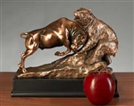 Classic Dueling Bull & Bear Statue - Bronzed Sculpture