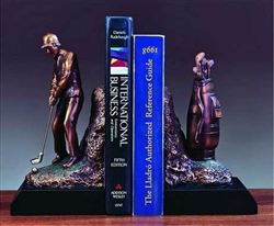 Golf Bookends - Bronze Finish