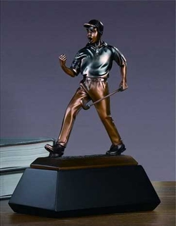 "9"" Winner Golf Trophy - Bronzed Statue"