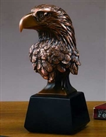 "10"" Bald Eagle Head Bronze Finished Statue - Figurine"