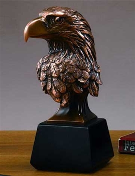 "9"" Bald Eagle Head Bronze Finished Statue – Figurine"