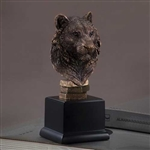 "9"" Bronze Finished Tiger Head Statue - Sculpture"