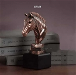 "8"" Bronze Finished Zebra Statue - Figurine"