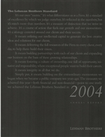2004 Lehman Brothers Annual Report