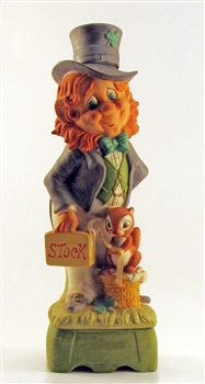 1976 Mr. Lucky Stock Broker Musical Decanter