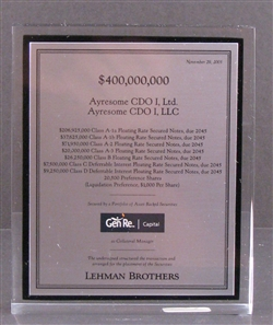 Ayresome CDO - Lehman Brothers Deal Lucite