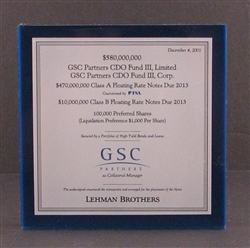 GSC Partners - Lehman Brothers Lucite
