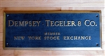 Vintage NYSE Dempsey - Tegeler & Co, Sign
