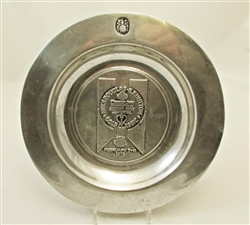 Mike Douglas-E.F. Hutton Golf Classic Pewter Plate