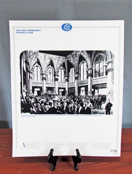 NYSE The First Trading Floor Poster
