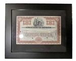 Framed Peerless Motor Car Stock Certificate