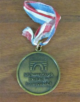Midwest Stock Exchange Medal