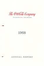 1968 Coca Cola Annual Report