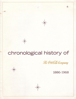 Chronological History of The Coca-Cola Company 1886-1968