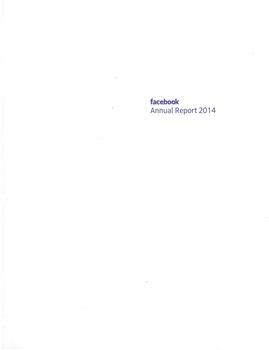 Facebook 2014 Annual Report